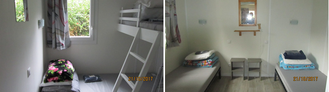 Slaapkamer met hoogslaper en tweepersoons slaapkamer