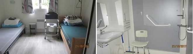 Tweepersoonskamer met Hoog-Laag bed